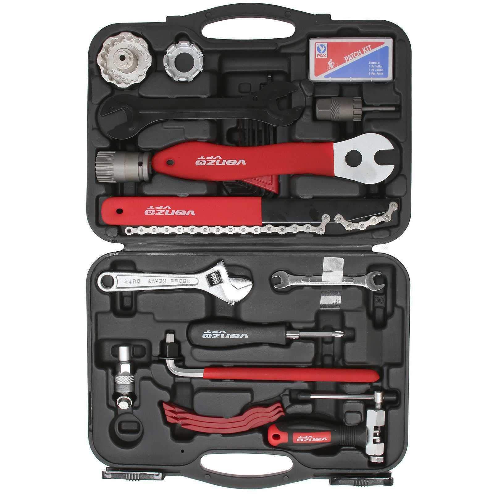 Venzo Premium Bike Bicycle Repair Tools Tool Kit by Venzo