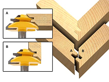 Yonico 15127 45 Degree Up To 3 4 Inch Stock Lock Miter Router Bit 1 2 Inch Shank