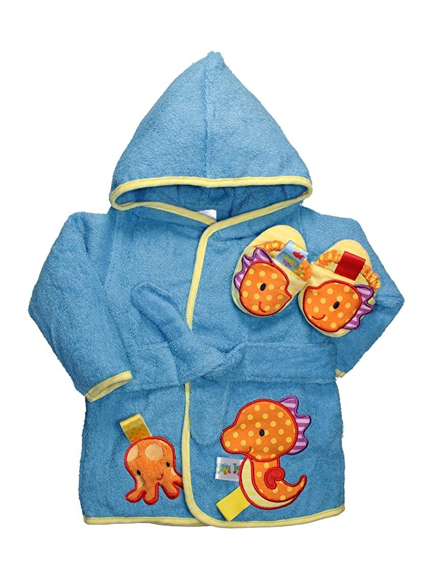 Boys Taggies Sea Horse Baby Bath Robe and Slippers by Taggies Rashti & Rashti