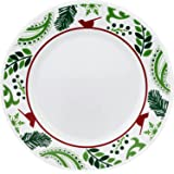 """Corelle Impressions 10.75"""" Dinner Plate Cater Pack-Birds and Boughs"""