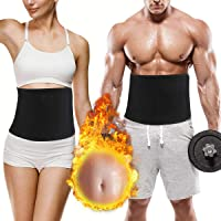 LuckLife Waist Trimmer, Adjustable Neoprene Ab Trainer Belt for Back Support, Weight Loss, Sweat Enhancer, Body Slimmer, Fits Up to 37 Inches, for Men & Women