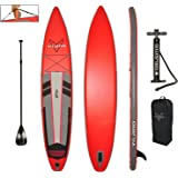 "Vilano 12' Inflatable Touring / Race SUP Stand Up Paddle Board, 6"" Thick"
