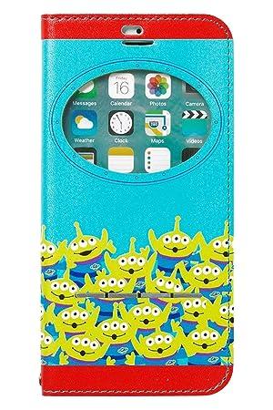 816bc56154 iPhone8 iPhone7 ケース 手帳型 ディズニー 窓付き キャラクター カード収納/エイリアン