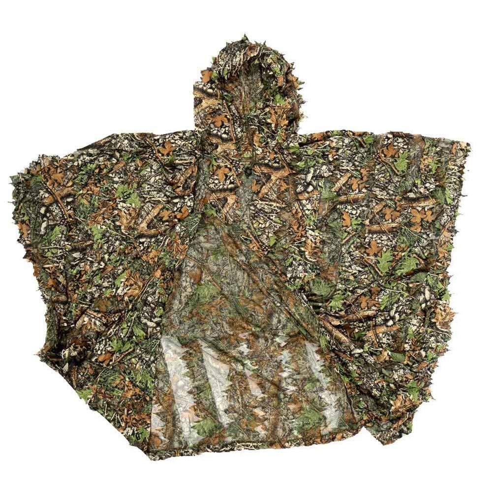 Einheitsgr/ö/ße Geeignet f/ür die meisten Erwachsenen Jiahe Ghillie Anzug 3D gr/ünen Poncho Camo Cape Mantel Stealth Military CS Woodland Jagd Poncho Cosplay Anzieh Requisiten