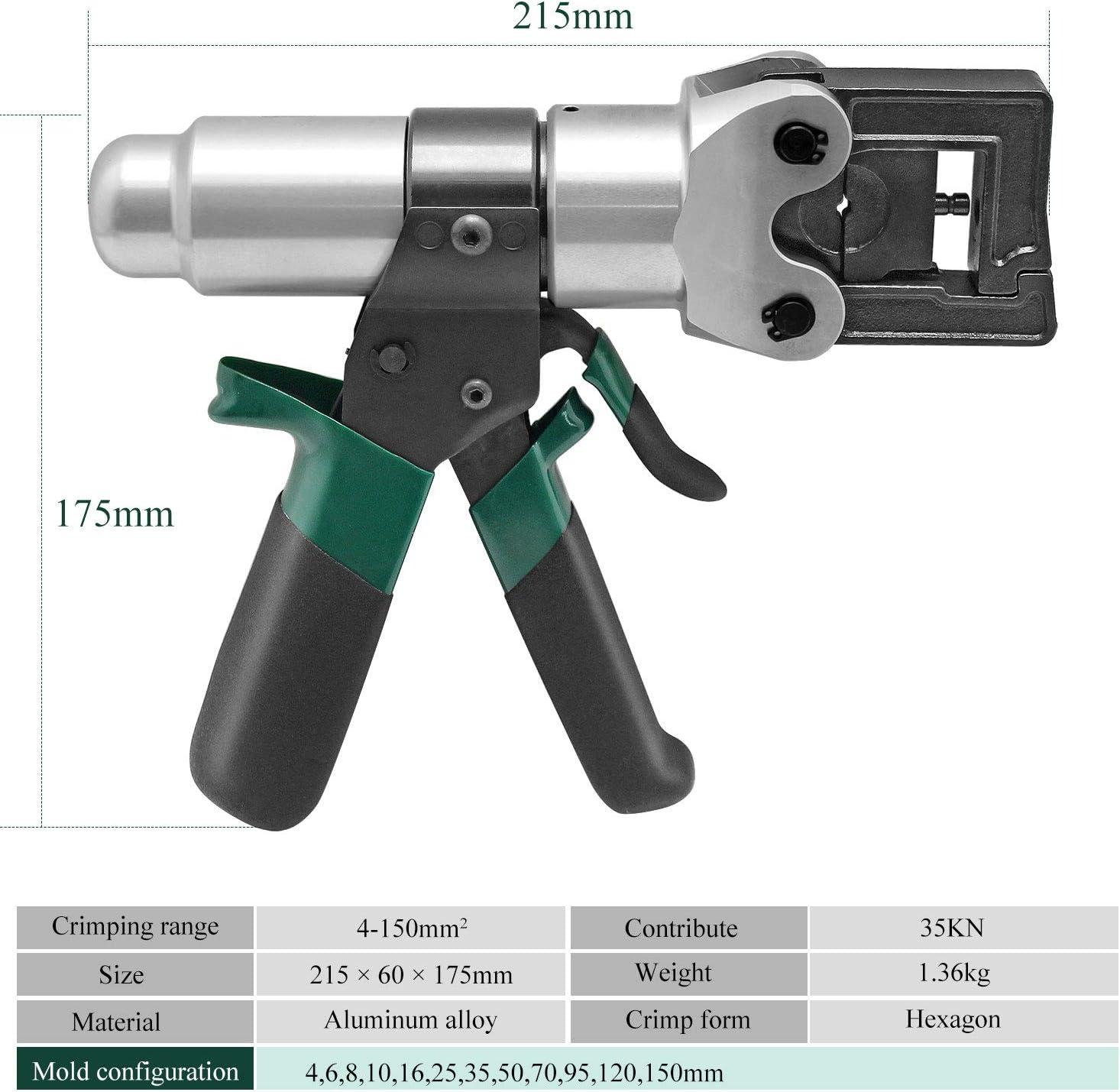 Cgoldenwall Ht-150/Pince /à sertir hydraulique manuel avec valve de s/écurit/é hydraulique c/âble Pince /à sertir Pince /à sertir Pince de compression pour CU conducteur 4 150/mm/²