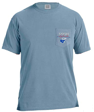 3caea3746875b Amazon.com : NCAA Adventures Short Sleeve Comfort Color Pocket Tee :  Clothing