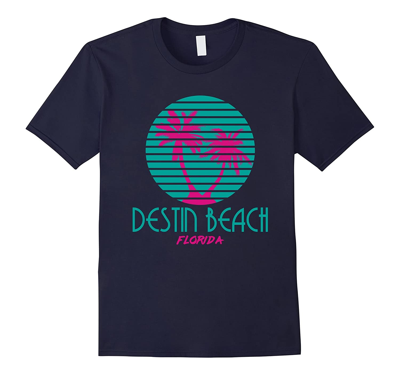 Destin Beach Florida T Shirt 80s Palm Trees Souveniers-TD