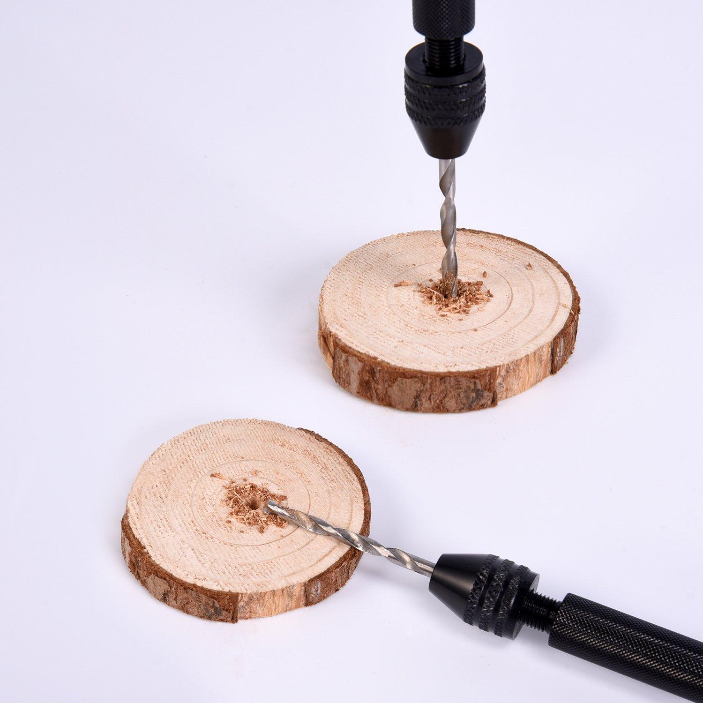 Mudder 21 Pieces Twist Drill Bits Precision Pin Vise Mini Micro Hand Drill Bit Set Rotary Tools
