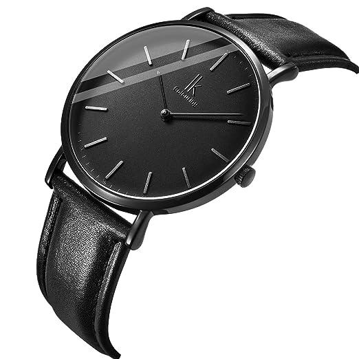 Gute Ik Fashion Ausdünnen Design Kohle Schwarz Armbanduhr Japan