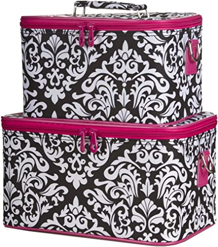 Ever Moda Makeup Train Case Set