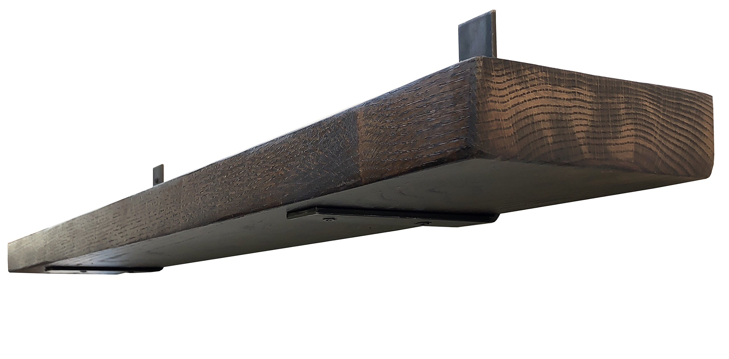 """DIY CARTEL Made in USA Industrial Forged Steel Floating Shelf L/J Bracket - Heavy Duty Rustic Shelf Brackets- Raw Hot Rolled Steel/Metal - Floating Shelf Hardware - 2 Pack (6"""" x 6"""" No Lip) - A USA PRODUCT YOU CAN TRUST: Our heavy duty floating shelf brackets are proudly crafted in the USA from premium quality raw metal. Industrial strength construction guarantees high durability, ensuring that our wall mounted shelf brackets can hold upwards of 60+lbs when mounted into a stud. NO HASSLE INSTALLATION WHEREVER YOU DESIRE: Whether you are a home or business owner, contractor, carpenter or DIY'er, you can easily put our metal shelf brackets up in minutes. 4 pre-made holes in each bracket allow for a quick hassle free installation. (Due to customers mounting the brackets into different types of material, screws and mounting hardware are NOT included). OPTIMAL DESIGN SUITS ANY STYLE: Our forged steel shelf brackets will compliment any décor whether it's farmhouse, rustic, vintage, industrial or steampunk! The minimalist, industrial, chic, modern yet rustic design, make them the perfect addition to your home, kitchen, garage, business and office. You can use and re-use our brackets anywhere you want! - wall-shelves, living-room-furniture, living-room - 71xXJpb6jcL -"""
