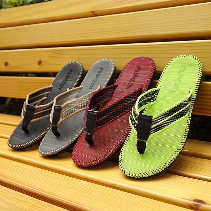 Verano Zapatillas de gimnasia, Pareja Flip-flop Men Playa Zapatillas Hombre Zapatillas Cool Estudiantes Zapatillas Clip antideslizante ( Color : C , Tamaño : 26.5cm )