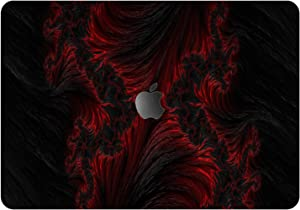 """Vonna Vinyl Decal Skin for Apple MacBook Pro 16"""" 2019 Pro 13"""" 2020 Retina 15"""" Air 13"""" 2018 Mac Air 11"""" Mac 12 Lava Texture Black Red Laptop Protective Fractal Art Abstract Sticker Print Cover t0017"""