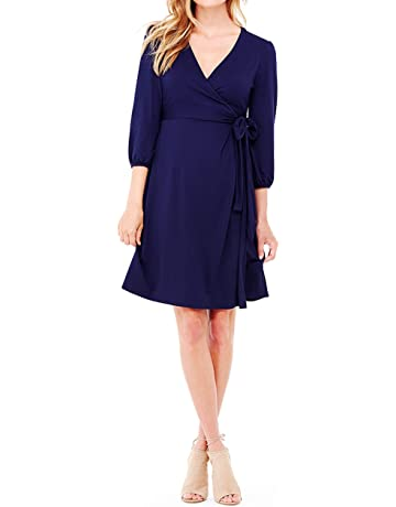 ba22bc1159c Ingrid   Isabel Women s 3 4 Sleeve Wrap Maternity Dress