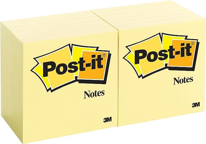 Original Post-It Notes 654 Haftnotizen 6 Blöcke 76 x 76mm 100 Blatt gelb 70g//m²