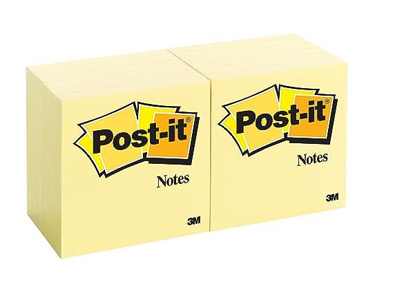 Post-it Haftnotizen 654 mohnrot 76 x 76 mm 1 Block mit 90 Blatt 0,02€//Blatt