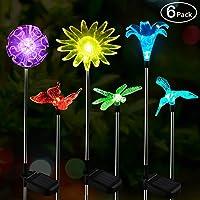 Luz Solar Exterior Jardin,OxyLED de 6 piquets LED en forme de figurine, éclairage de paysage aux couleurs changeantes…
