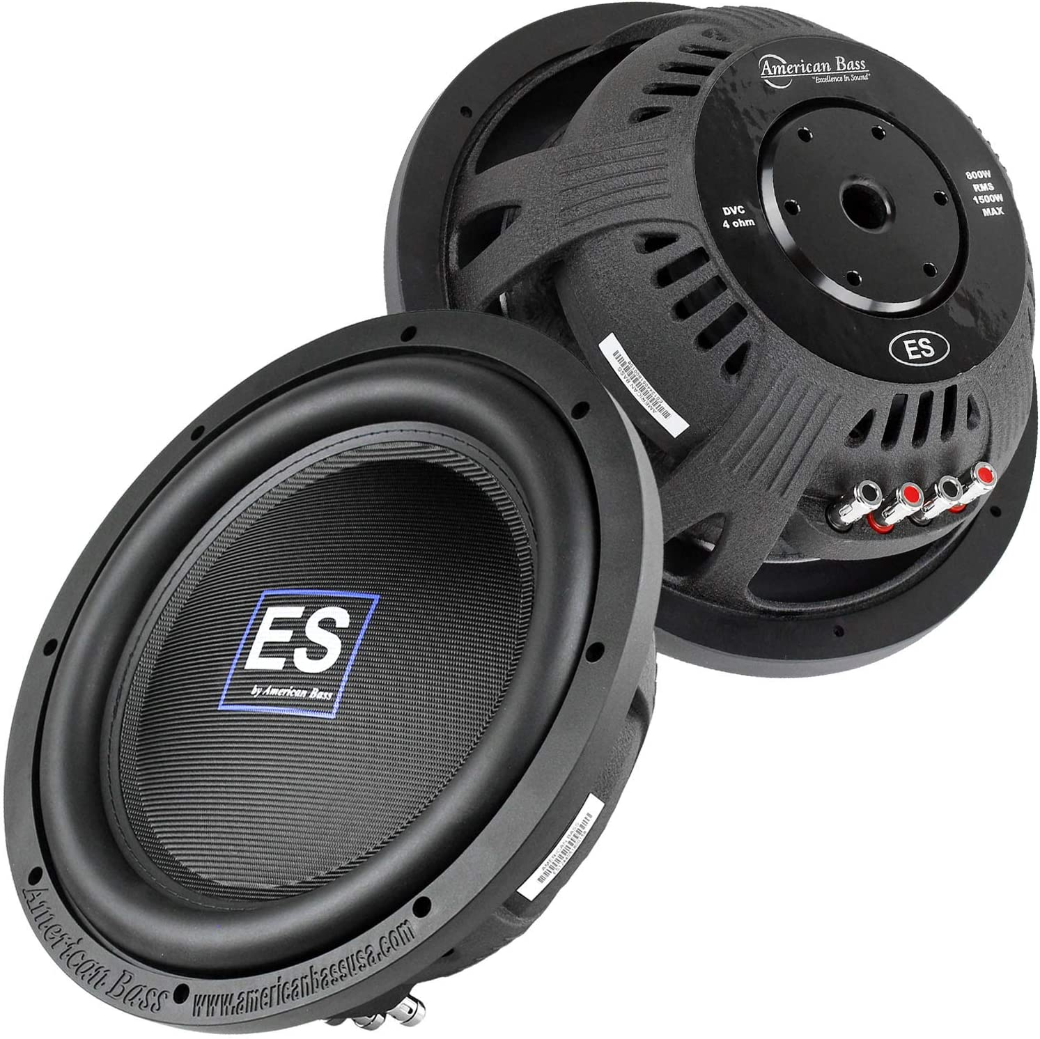 12-inch 1500w Max 4 Ohm Woofer Car Audio Woofers for Sound System Black