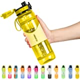 NEEKFOX Water Bottle, 34oz Anti-slip Gallon Water Bottle, Leakproof BPA Free Tritan Water Jug with Removable Strainer & Prote