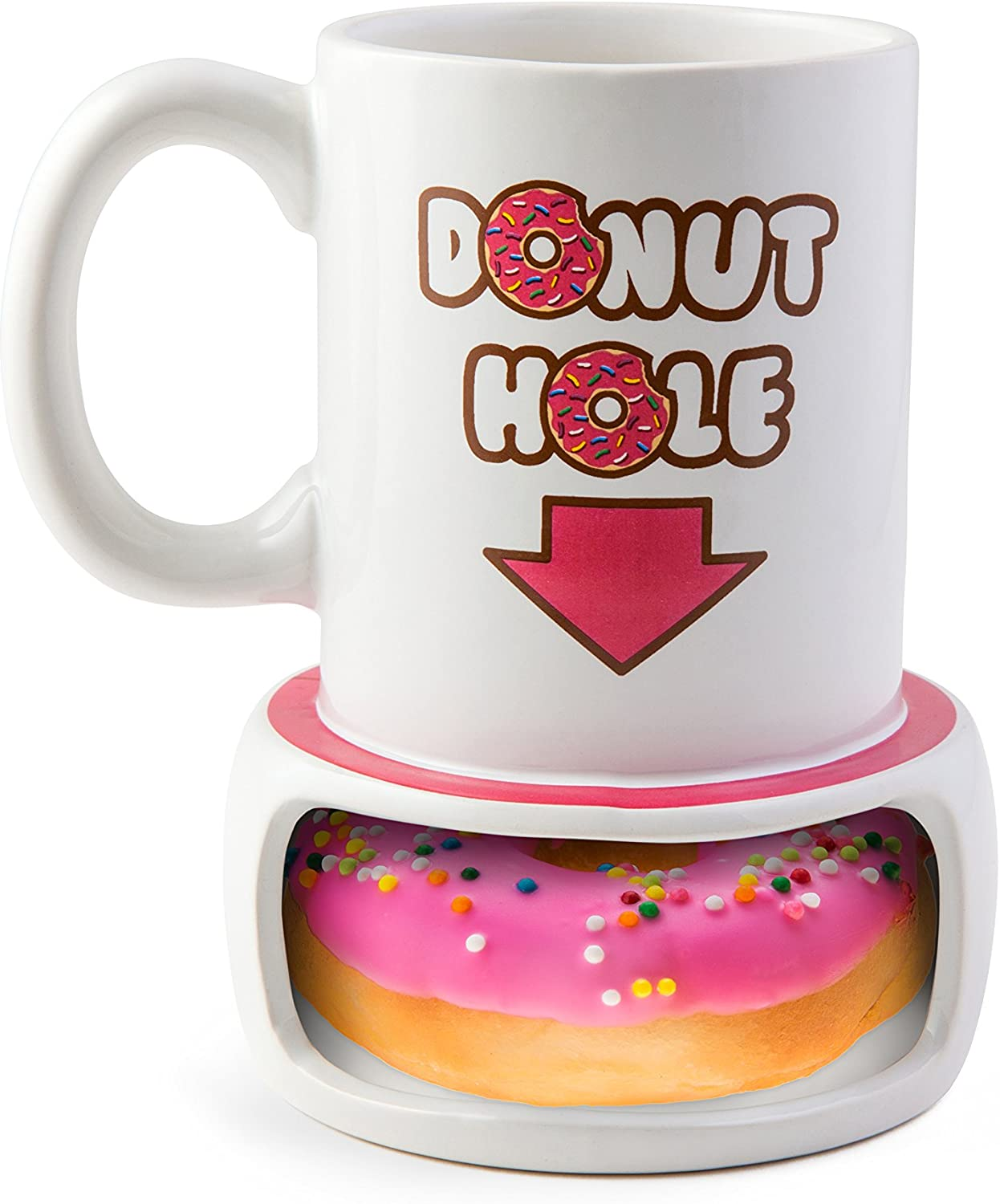 NEW Bigmouth Frosted Donut Coffee Mug