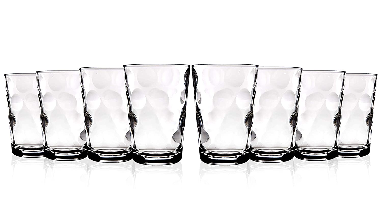 Home Essentials Eclipse 7 oz Luxury Design Juice Glass Set of 8