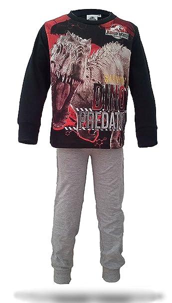 Jurassic World - Pijama dos piezas - para niño Red,Black,Grey