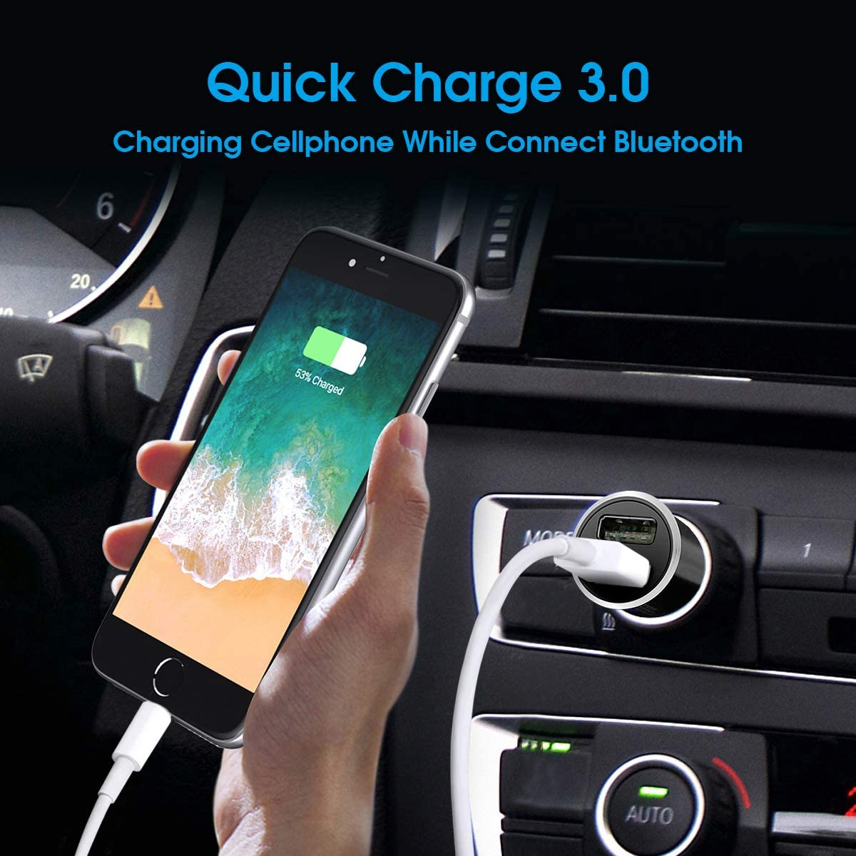 Hands-Free Calling Bluetooth Car Aux Adapter Cool Top Gadgets for Men Women Under 20 Dollars,Christmas Unique Gifts,TOPOINT Car Stereo Receiver with Built-in Microphone Bluetooth Receiver