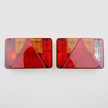 2 x DKB Universal Rückleuchte für KFZ Anhänger Heckleuchte Anhängerbeleuchtung