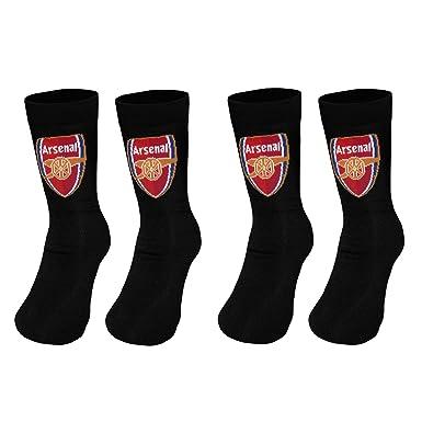 Pack Of 2 Arsenal FC Childrens Boys Official Football Crest Socks