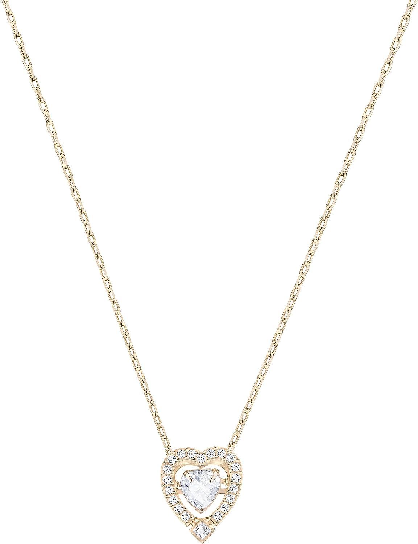 Swarovski Collar Sparkling Dance Heart, de Mujer, blanco, Baño en tono Oro de Mujer, rosa