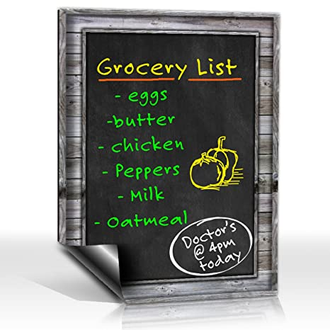 Smart Planner: Black Dry Erase Refrigerator Magnetic Chalkboard Design | Use Horizontal or Vertical as a Weekly Planner for Important Calendar Dates. ...