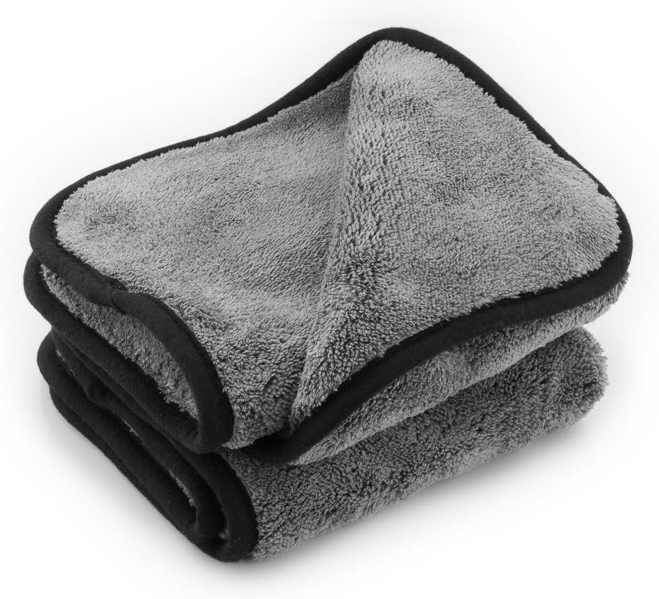 2 Stück Mikrofaser Reinigungs //Poliertuch Dreieck förmig mit Brüste für