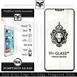 TheGiftKart Tempered Glass: Korean Full Glue 3D Edge-to-Edge Tempered-Glass Screen Protector for Huawei P20 Lite (Black)