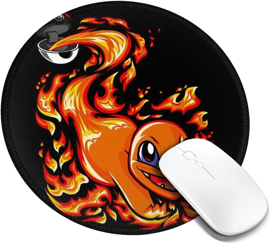 Charmander Pokeball Monster of The Pocket Customized Designs Non-Slip Rubber Base Gaming Mouse Pads for Mac,7.9x7.9 in, Pc, Computers. Ideal for Working Or Game