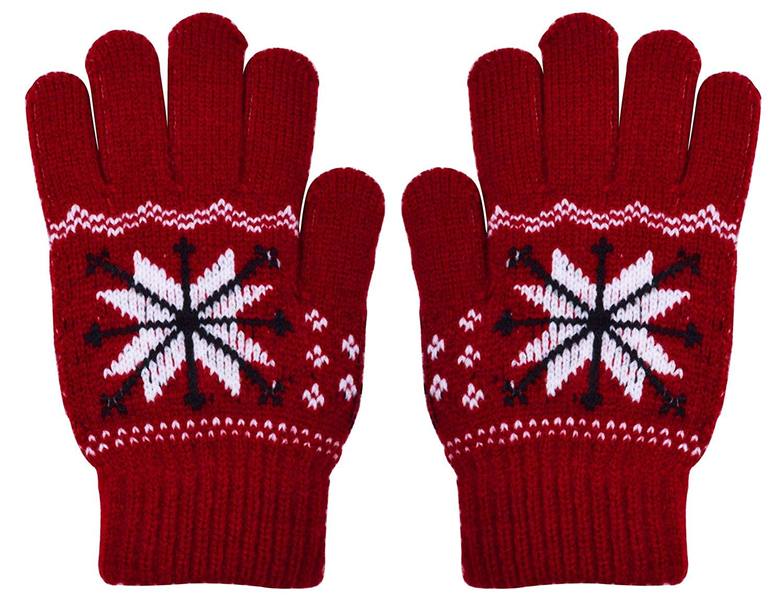 Shark Tooth Kids Winter Gloves Magic Warm Cashmere 1/2 Pairs BKIDSGLOVES01KNAVY