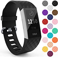 Yousave Accessories Replacement Strap For Fitbit Charge 3, Silicone Fitbit Charge 3 Wristband, Sport Wrist Strap for the Fitbit Charge 3 - Available in 15 Colours