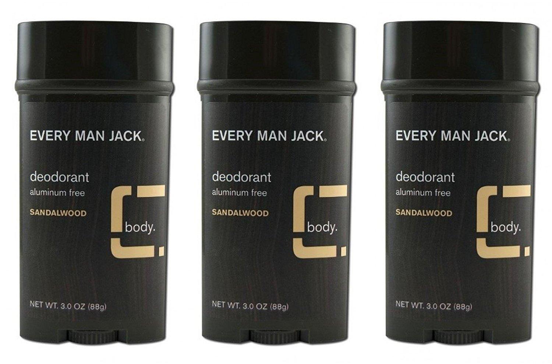 Every Man Jack Deodorant 3oz Sandlewood Aluminum-Free (2 Pack) SPRROL2417