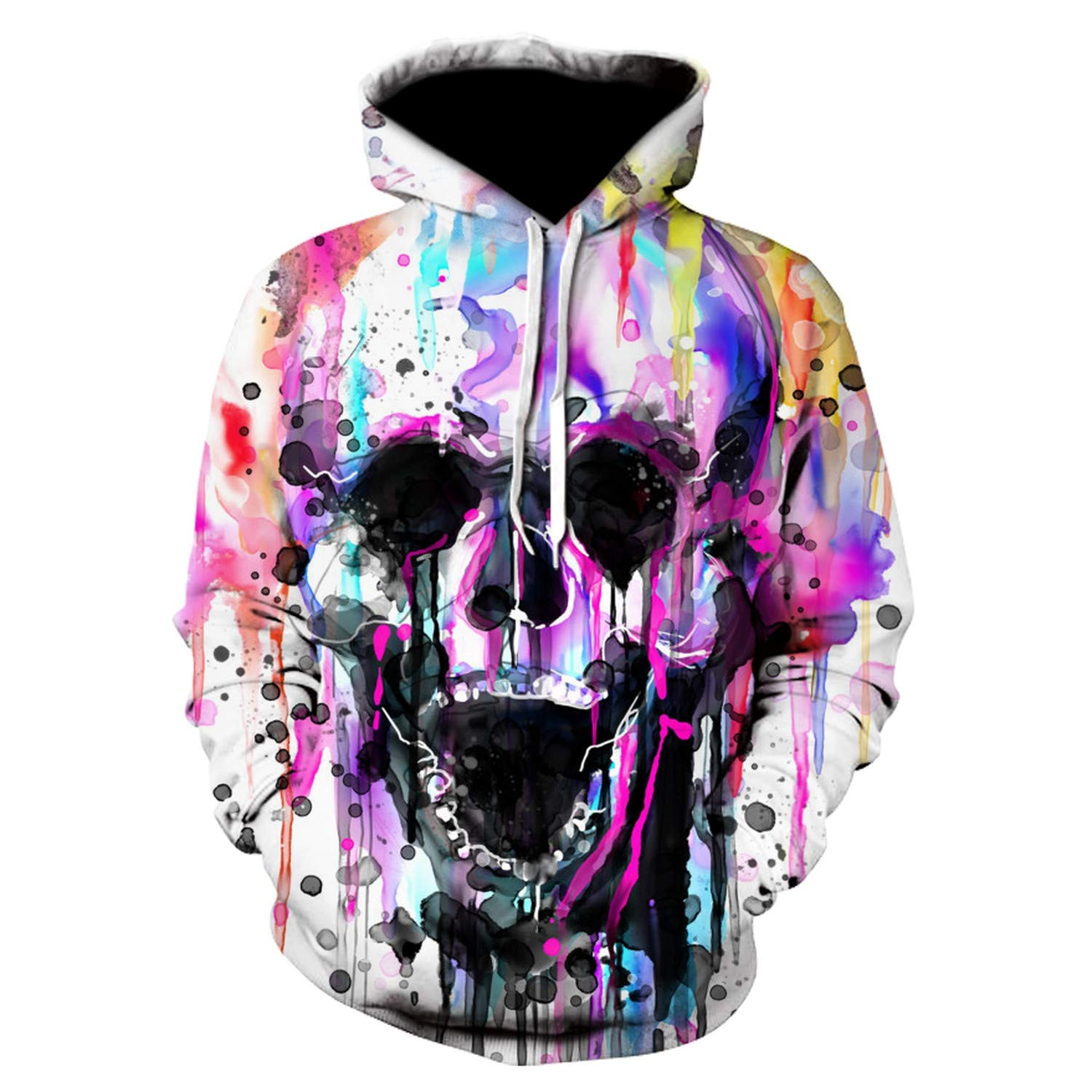 Gutuomy Women Men 3D Sweatshirts Pullover Novelty Tracksuit Fashion Hooded Streetwear Autumn Casual Jacket Picture Color XL