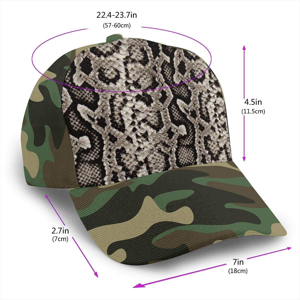 Classic Comfortable Snake Skin Pattern Adjustable Baseball Cap