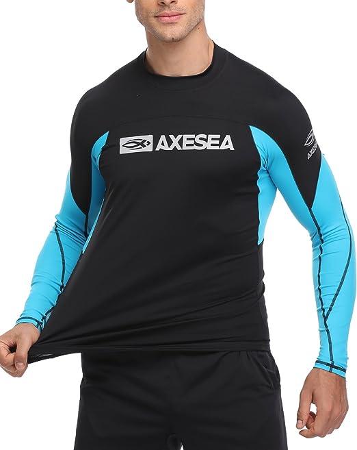 Quick Dry Swim Shirt Rashguard Crew Shirt VAYAGER Mens Short Sleeve UPF 50