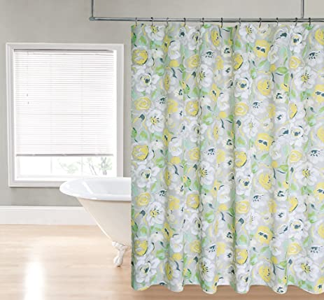 Amazon.com: Regal Home Collections Printed Flower Fabric Shower ...