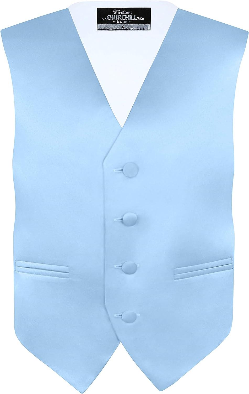 Churchill /& Co Neck Tie /& Pocket Hankie with Bow Tie Boys 4 Piece Vest Set S.H