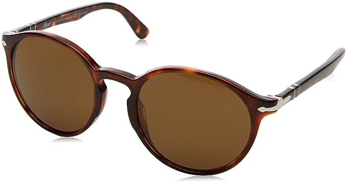 8b6ac80eaa04 Persol Men's PO3171S Sunglasses Havana/Brown Polarized 52mm at ...