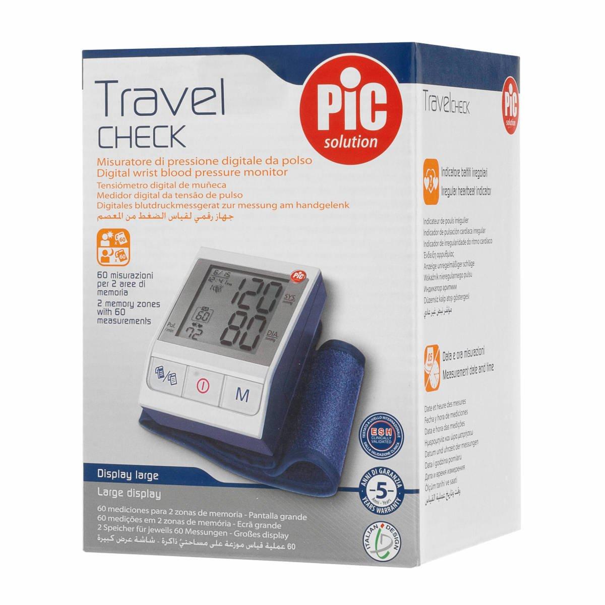 Pic Solution Self Check - Tensiómetro automático de muñeca: Amazon.es: Salud y cuidado personal