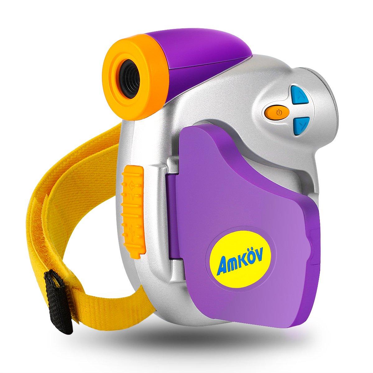 Digital Video Camera for Kids, AMKOV Kids Camcorder, 1.44 Inch Full-Color TFT Display Kids Camera