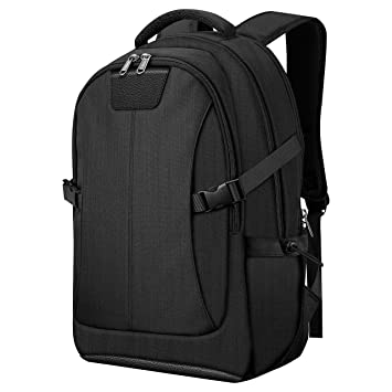 fb18abfa0ac2 PICTEK Laptop Backpack for 15-17 Inch Laptops,Waterproof, with Rain Cover,  Flight Approved Carry-On Backpack, Black