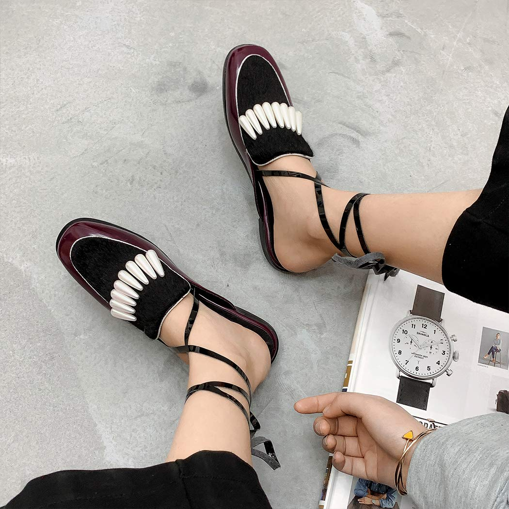 2019 Spring Women Mules Cross-Strap Pearl Clogs Square Toe Slippers Footwear Horse Hair pu Casual Ladies Mules Shoes Big Size 43 NA004