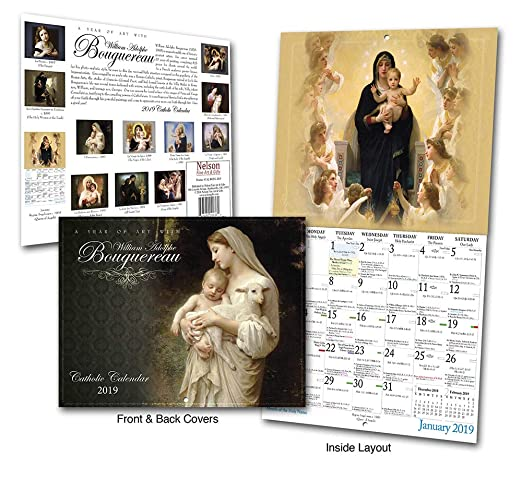 Catholic Calendar January 2019 Amazon.: Catholic Religious Liturgical Wall Calendar 2019: A