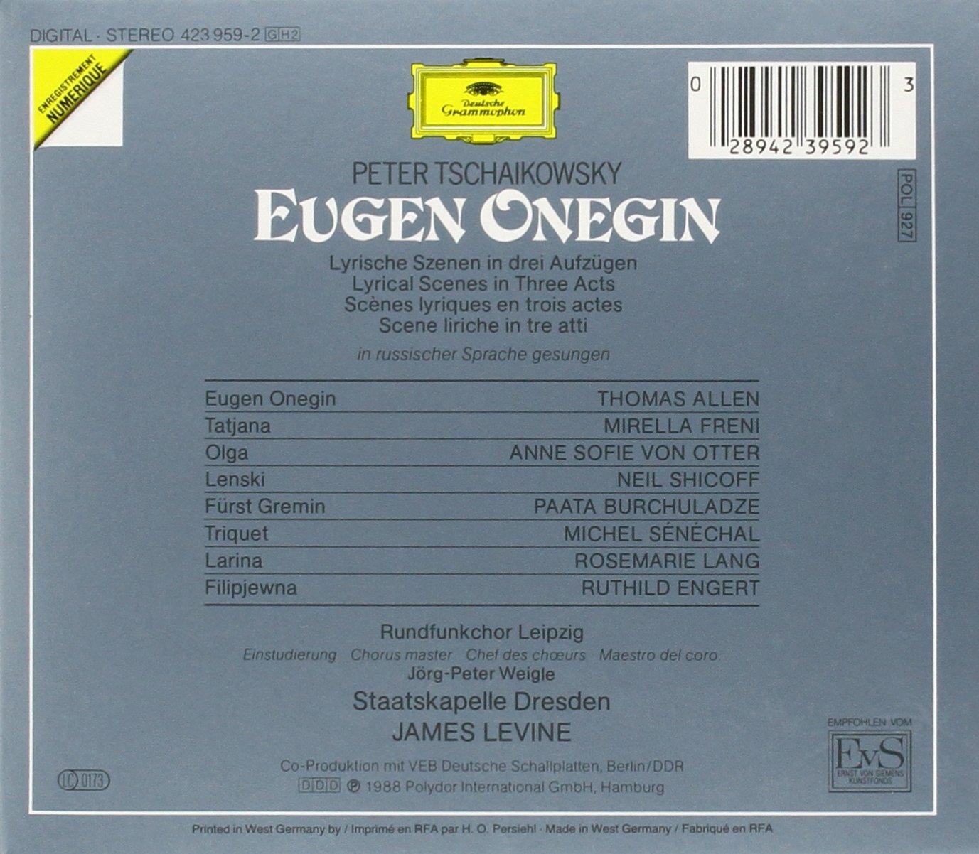 Tchaikovsky: Eugene Onegin by Olga
