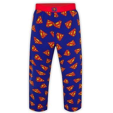 DC Comics - Pantalones de pijama oficiales - Para hombre - Batman, Superman - Azul - Small: Amazon.es: Ropa y accesorios